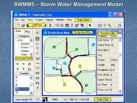 SWMM5 – Storm Water Management Model