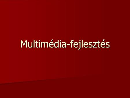 Multimédia-fejlesztés. 2. számú beküldendő feladat Készítsen el egy multimédia alkalmazást! Neobook for windows szoftverrel Neobook for windows szoftverrel.