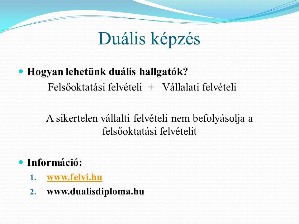 További tájékozódás Internet: www.felvi.hu (elektronikus jelentkezés!) www.felvi.hu info@felvi.hu intézményi honlapok http://www.kormany.hu/hu/emberi-eroforrasok- miniszteriuma/felsooktatasert-felelos-allamtitkarsaghttp://www.kormany.hu/hu/emberi-eroforrasok- miniszteriuma/felsooktatasert-felelos-allamtitkarsag http://www.oktatas.hu/kozneveles/erettsegi/altalan os_tajekoztatashttp://www.oktatas.hu/kozneveles/erettsegi/altalan os_tajekoztatas