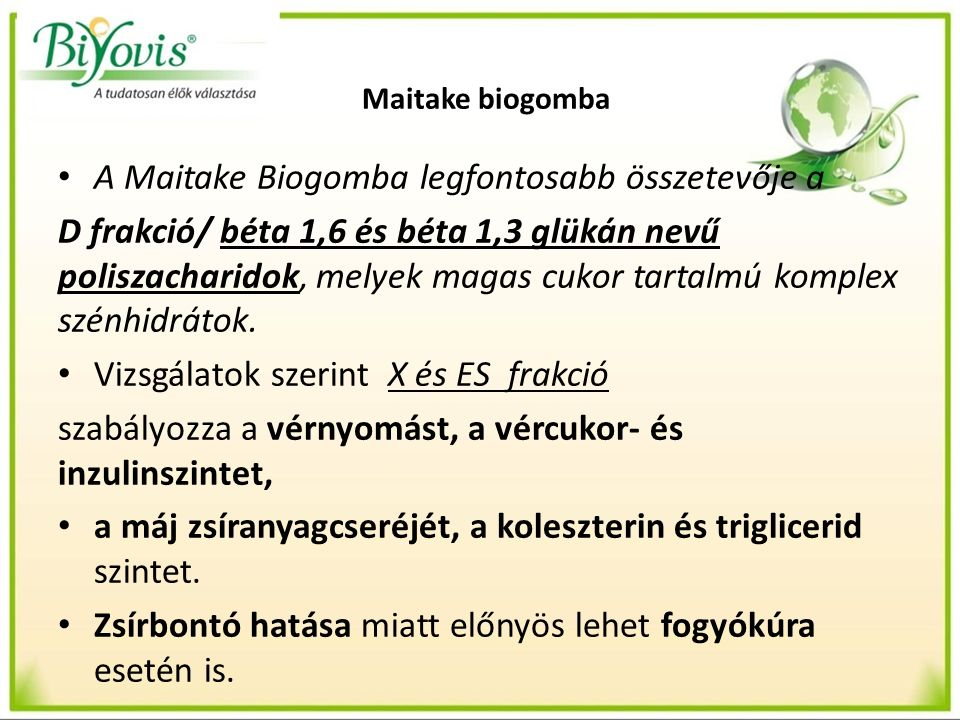 Maitake biogomba - daganatos mb.