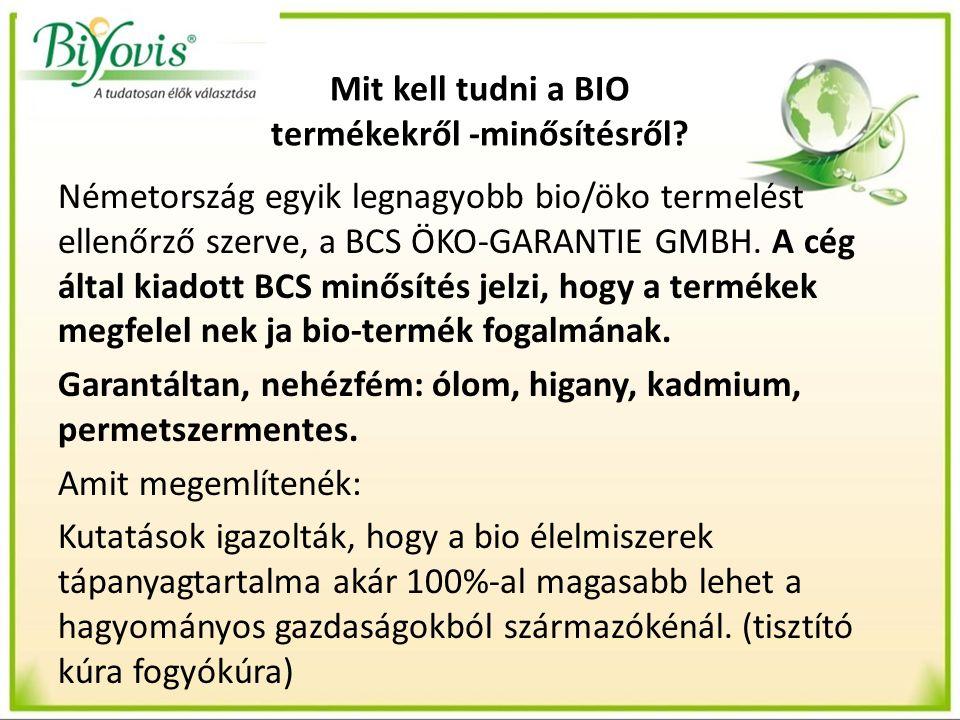 Bio minősítés