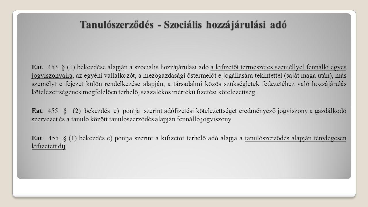 Tanulószerződés - Biztosítási jogviszony Tbj.4. § k) 1.