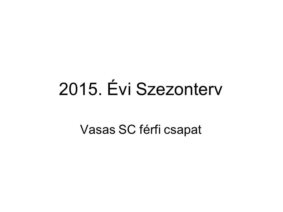 Célunk a 2015-ös évben 2015-ös Magyar Bajnokság megnyerése Mi képviseljük 2015-ben az EB-n Esbjergben Magyarországot Célunk az A csoportba jutás, vagyis a B csoport 1.