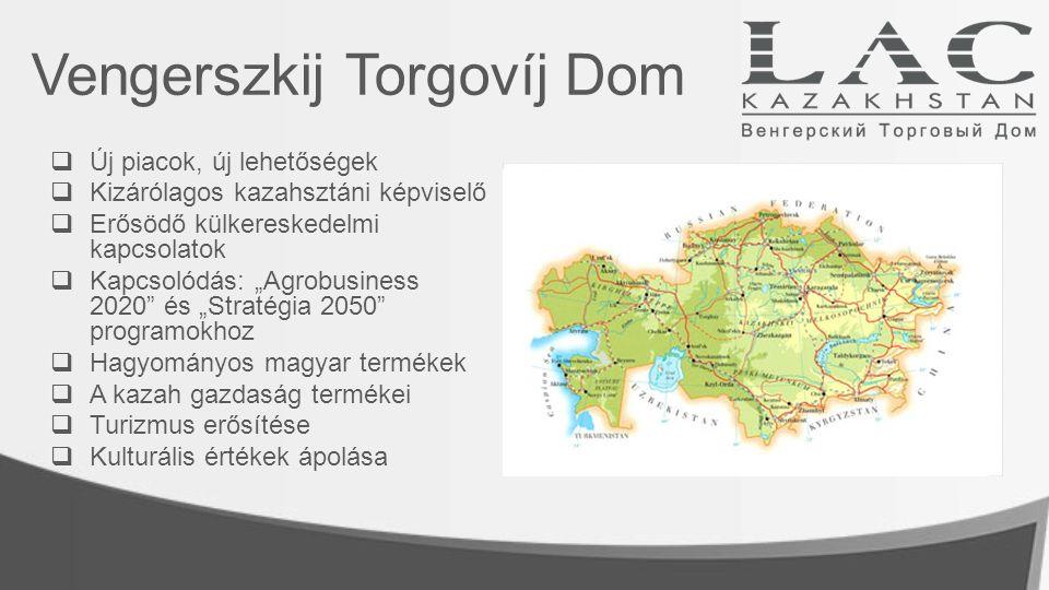 Flora Konzorcium Célja a kazah mezőgazdaság modernizációja  A vetésterület növelése  A termésátlagok javítása  Takarmánybázis megteremtése az állattenyésztéshez  A legmodernebb technológiákat tudjuk szállítani  Rendelkezünk a modern technológiákhoz szükséges kompetenciákkal