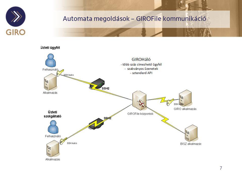 8 Köszönöm a figyelmet! Szabó Katalin GIRO Zrt. www. giro.hu