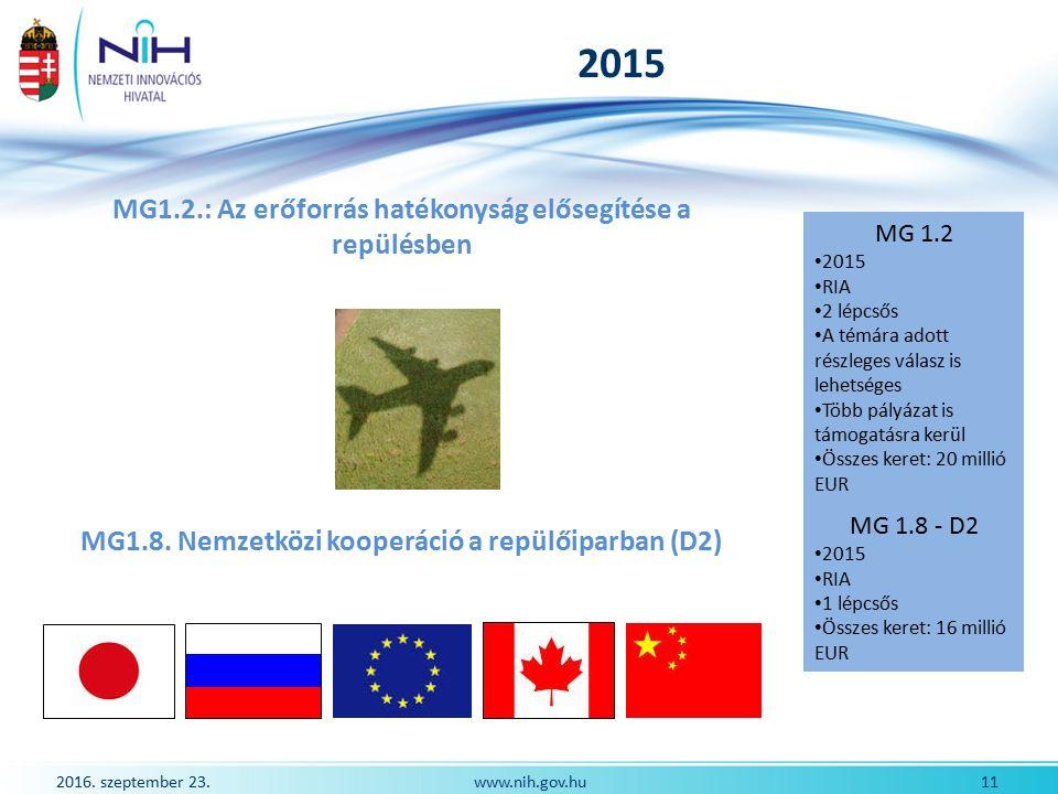 2016.szeptember 23. 12www.nih.gov.hu Első fontos dátum: Március 18.
