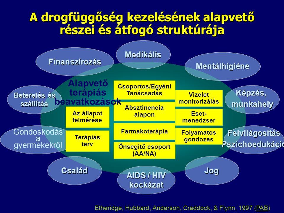 Prevenció Terápiás intervenció Ambuláns ellátás Intenzív ambuláns ellátás Lakóhelyhez közeli ellátás Checklist For Alcohol and Drug Treatment Services (10 kérdés) 1.