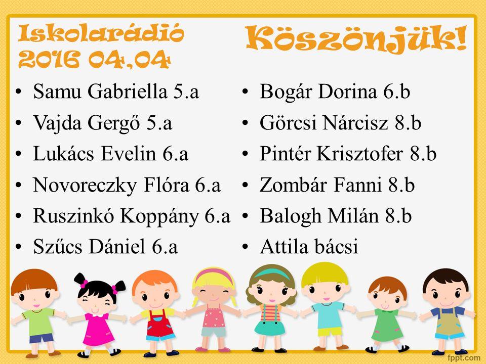 Májusi programok Május 17.Elsős szülői értekezlet 17.00.