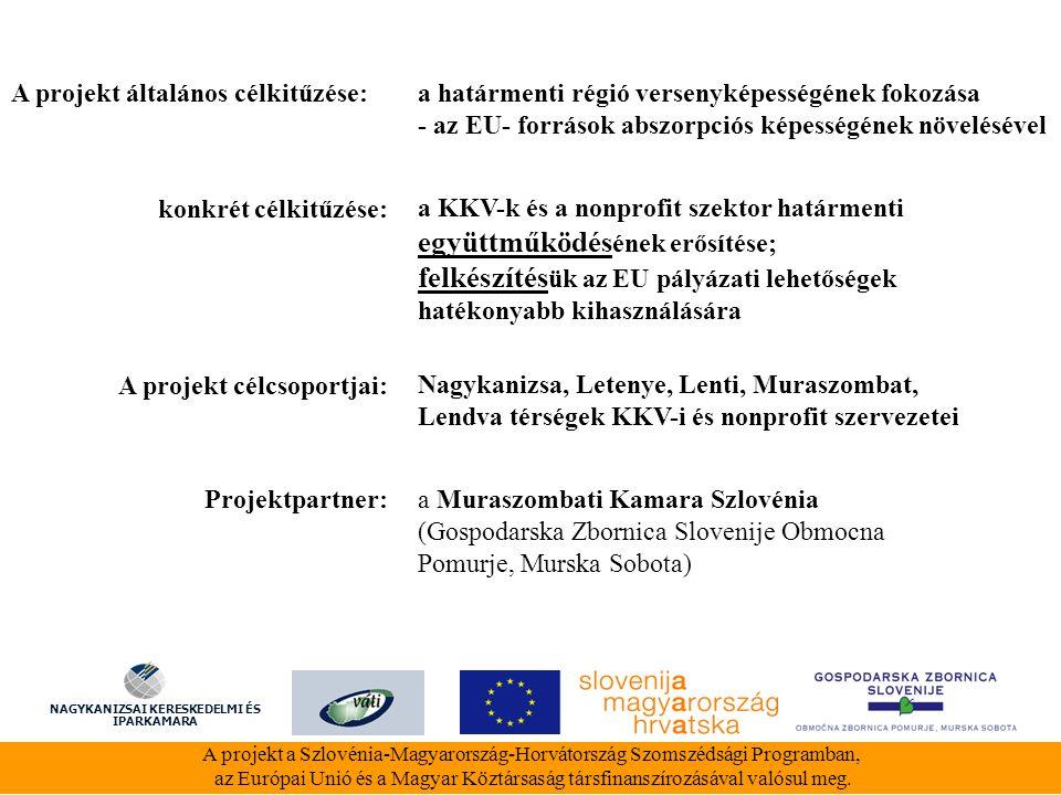 1.Szlovén- magyar üzletember találkozó 2. Pályázatíró tréning 3.