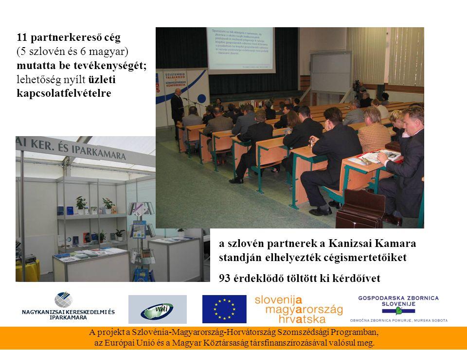 A Nagykanizsai Kereskedelmi és Iparkamara eszközparkja 1 db projektorral, 1 db laptoppal, és 1 tolmácsberendezéssel bővült a projekt támogatásával A projekt a Szlovénia-Magyarország-Horvátország Szomszédsági Programban, az Európai Unió és a Magyar Köztársaság társfinanszírozásával valósul meg.