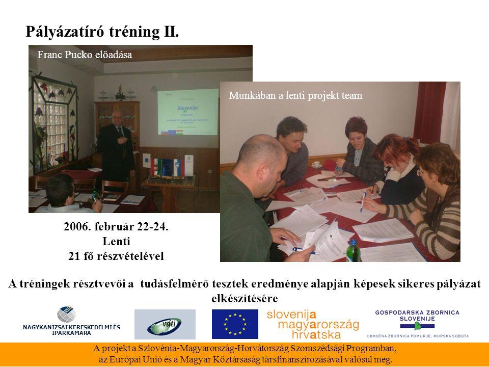 A projekt a Szlovénia-Magyarország-Horvátország Szomszédsági Programban, az Európai Unió és a Magyar Köztársaság társfinanszírozásával valósul meg.