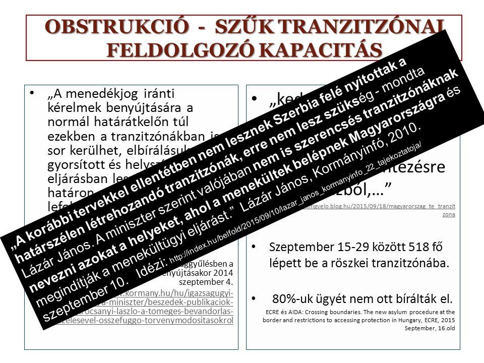 OBSTRUKCIÓ – SZERBIA BIZTONSÁGOS HARMADIK ORSZÁG 191/2015.
