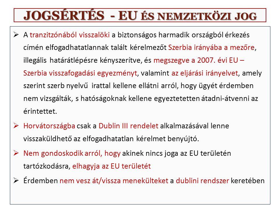 JOGSÉRTÉS - EU ÉS NEMZETKÖZI JOG  Ld.még a Bizottság 2015.
