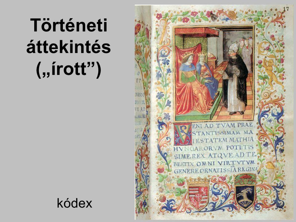 """Gutenberg nyomda Történeti áttekintés (""""írott )"""