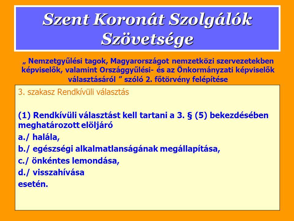 Szent Koronát Szolgálók Szövetsége III.