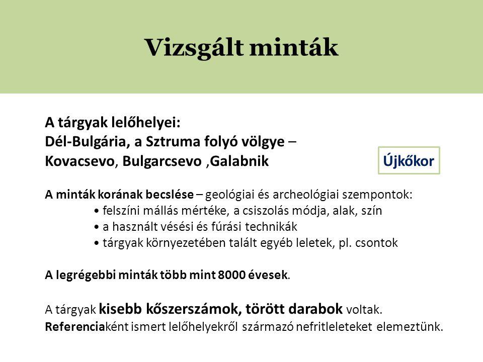 1—Galabnik 2—Bulgarcsevo 3—Kovacsevo A tárgyak lelőhelyei Sztruma folyó