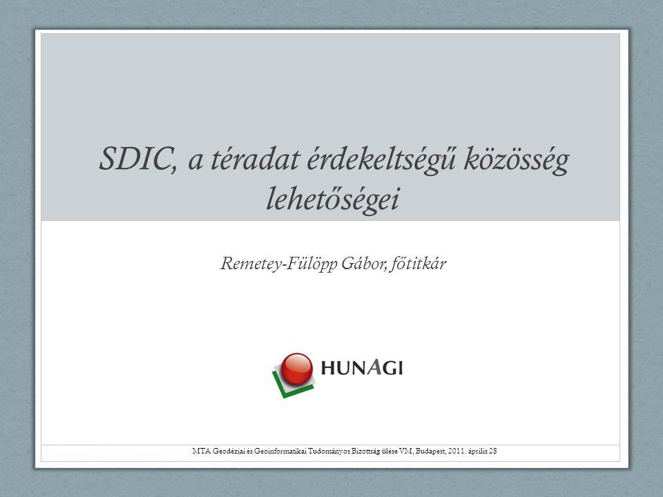 Tartalom • Visszatekintés • SDIC HUNAGI a téradat érdekeltség ű közösség • HUNAGI SDIC jellemzése és szerepe • Lehet ő ségek • Következtetések
