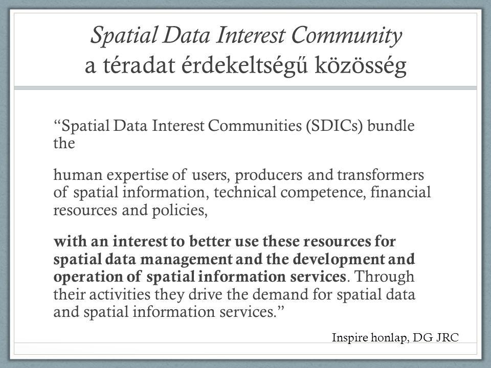 Spatial Data Interest Community a téradat érdekeltség ű közösség A Magyar Térinformatikai Társaság (HUNAGI) nonprofit civil szervezet.