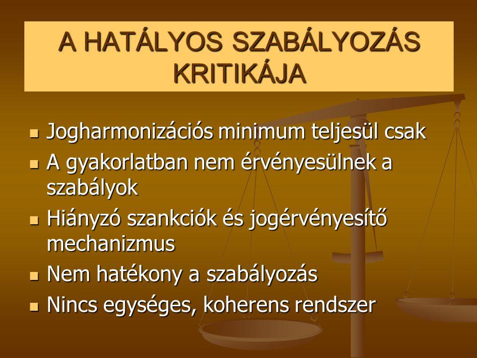SZABÁLYOZÁSI ALTERNATíVÁK  1.