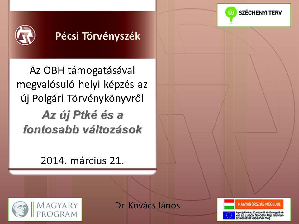 A Polgári Törvénykönyvről szóló 2013.évi V.