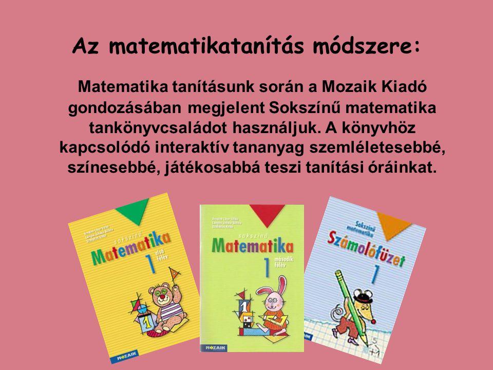 A matematika tanításában fontos szerepet kap az eszközök használata.