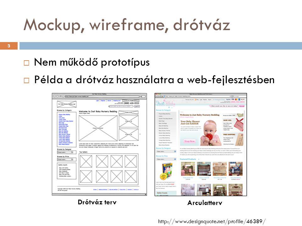 Drótváztervezési praktikák  Digitális drótváz előnyök  Törlés  Áthelyezés drótvázon belül és drótvázak közt  Átméretezés  Háttéranyagok gyors beillesztése  Sablonok  Minták kéznél vannak  Dinamikusság imitálása  Elemek könnyebb átemelhetősége  Egyszerűbb archiválás  Más is könnyedén belenyúl http://ergomania.eu/drotvaztervezesi-praktikak/ 4