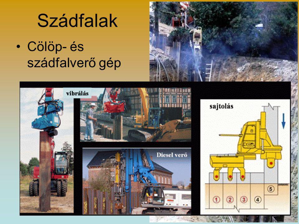 Földmunkák munkavédelmi követelményei •az 1,00 m-nél mélyebb földpartokat korláttal kell elkeríteni •árokban egymástól min.