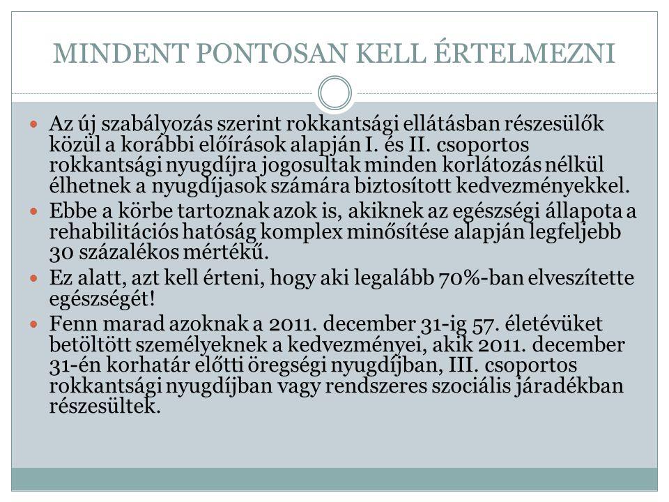 FIGYELNI, HOGY KI MIRE JOGOSULT. A tavaly kiállított Nyugdíjasok utazási utalványa 2012.