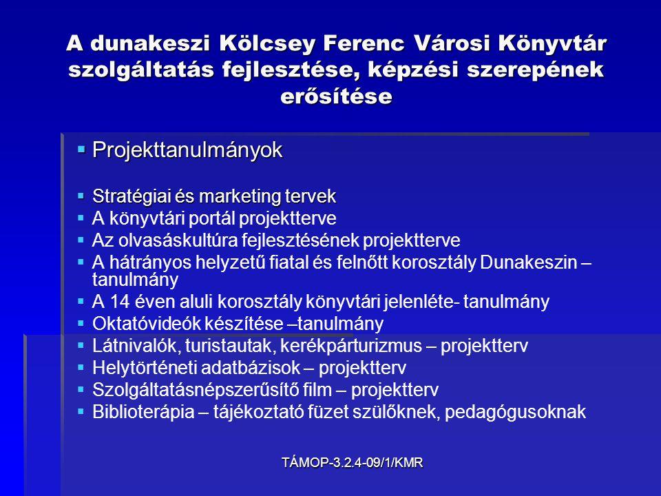 TÁMOP-3.2.4-09/1/KMR A dunakeszi Kölcsey Ferenc Városi Könyvtár szolgáltatás fejlesztése, képzési szerepének erősítése   Adatbázisok   A kistérségi írók, művészek és műveik adatbázisa (kb.