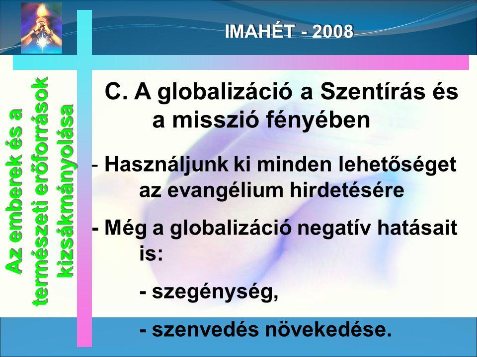 IMAHÉT - 2008 Márk 6, 36.
