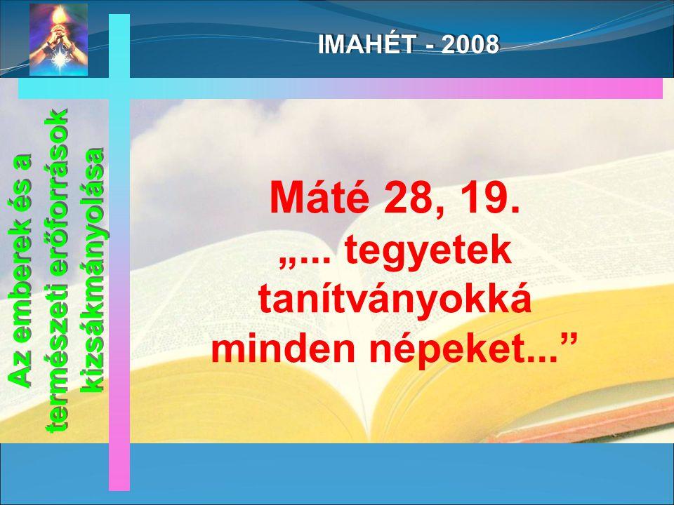 IMAHÉT - 2008 A.