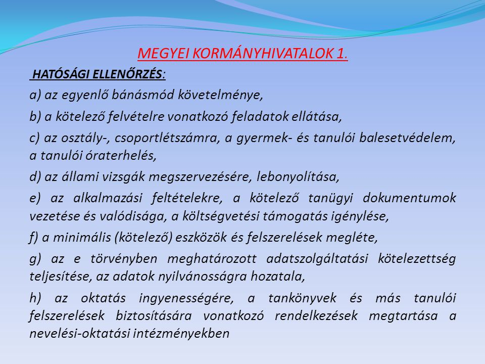 MEGYEI KORMÁNYHIVATALOK 2.