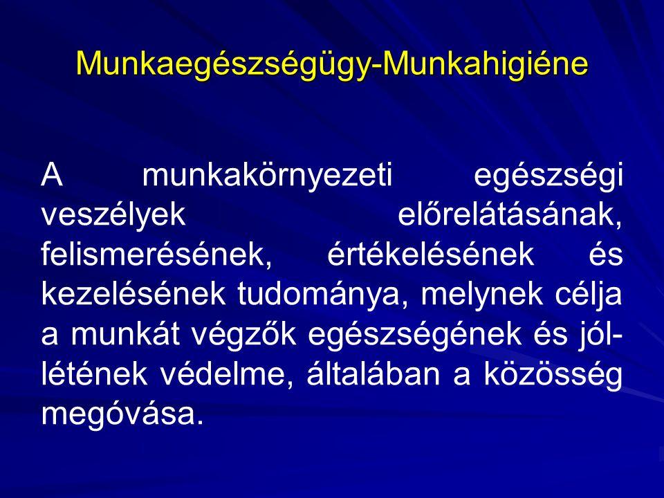 Az egészséges és biztonságos munkavégzés minimális munkaegészségügyi követelményei A követelményeket a 3/2002 (II.8.) SzCsM- EüM rendelet határozza meg.