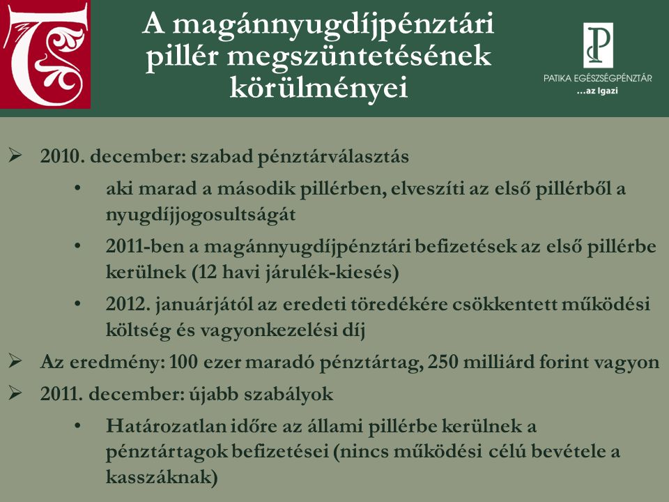 Magánnyugdíjpénztárak: a legfontosabb mutatószámok (pszaf.hu)  2010-ben több mint 3 millió tag, 2011.