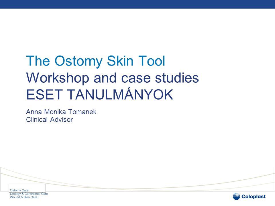 Meeting objectives CÉLKITŰZÉS Workshop 1 – simple case EGYSZERŰ Workshop 2 - complex case ÖSSZETETT Using the Ostomy Skin Tool in practice GYAKORLÁS   