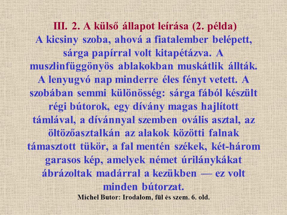 III.2. A külső állapot leírása (2.