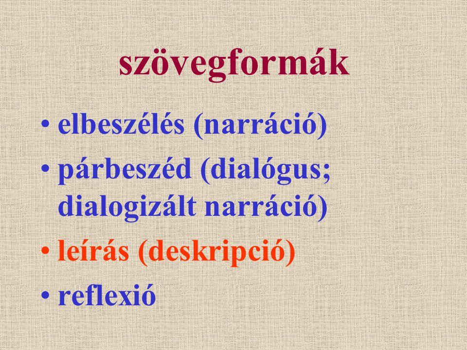 VÁZLAT III.1. A leírás általános jellemzői. III. 2.