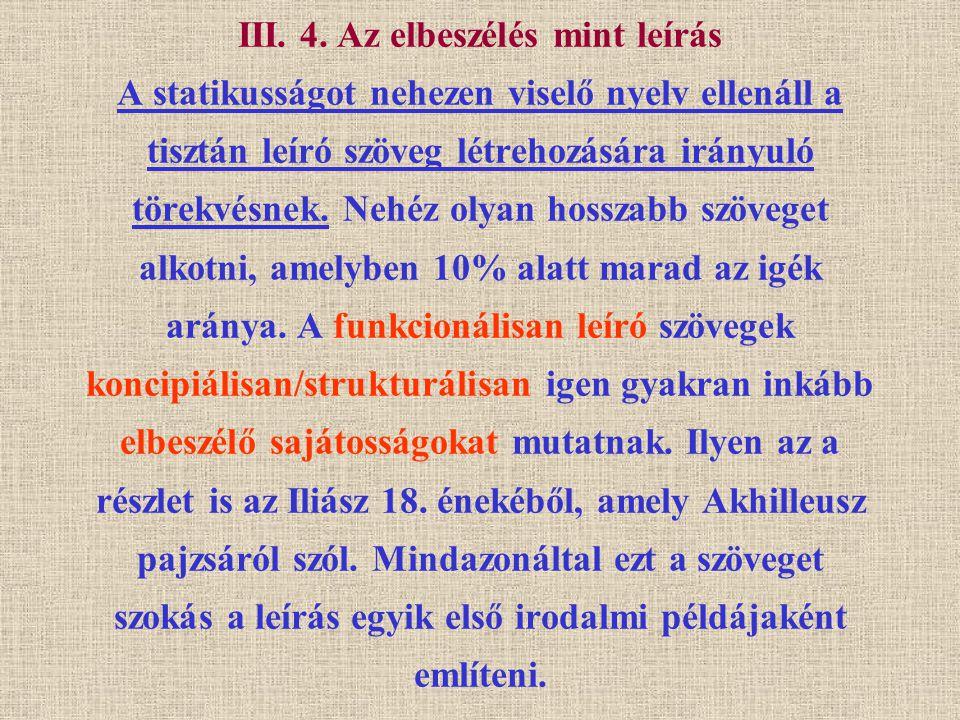 III.4. Az elbeszélés mint leírás (1.