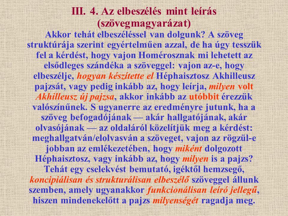 III.4. Az elbeszélés mint leírás (2.