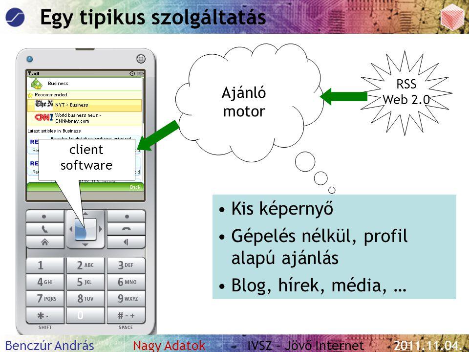 Benczúr András Nagy Adatok IVSZ – Jövő Internet 2011.11.04. Tartalom, kapcsolatok, vírusmarketing
