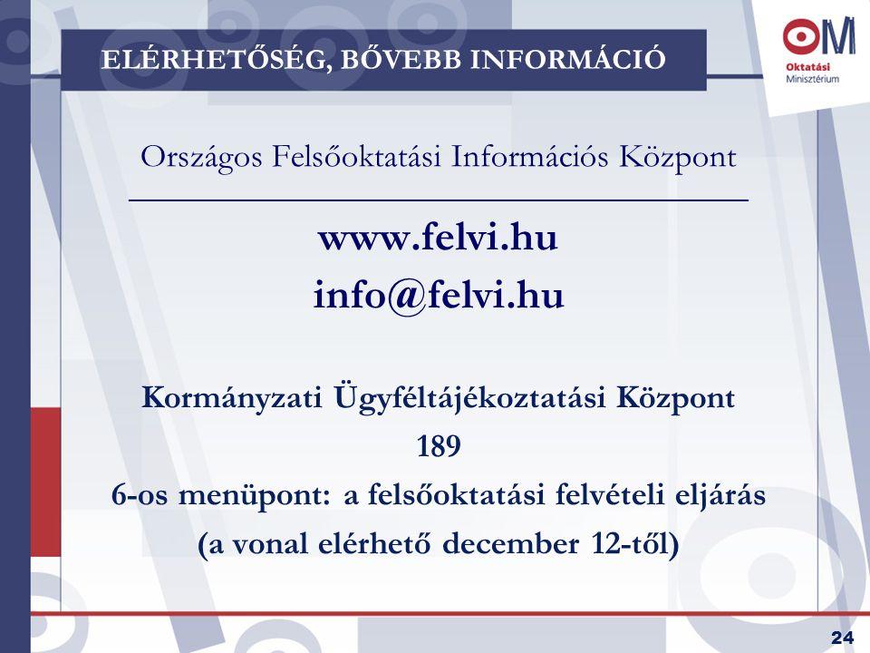 25 TOVÁBBI INFORMÁCIÓK Új, európai úton a diplomához A magyar felsőoktatás modernizációja c.