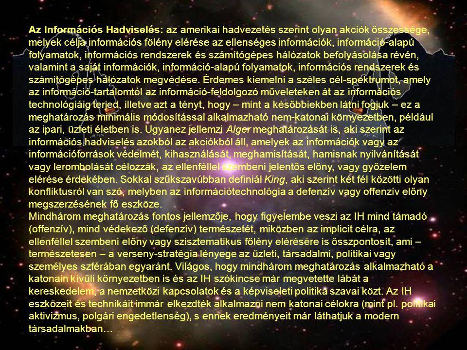 A lehetőségek spektruma (Példa) 1.