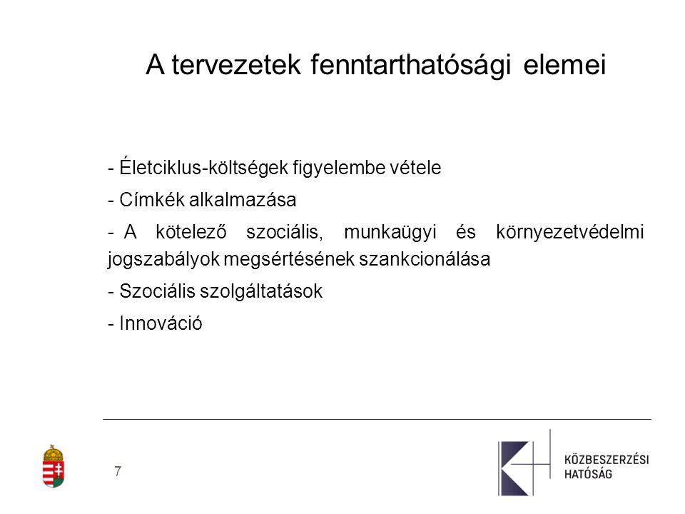 8 Egyéb környezetvédelmi vonatkozású jogszabályok - Az irodai berendezésekre vonatkozó közösségi energiahatékonysági címkézési programról szóló 106/2008/EK rendeletet (az Energy Star címkézésről) - A tiszta és energiahatékony közúti járművek használatának előmozdításáról szóló 2009/33/EK irányelv - Az épületek energiahatékonyságáról szóló 2010/31/EU irányelv