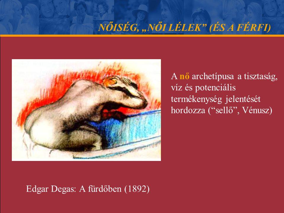"""NŐISÉG, """"NŐI LÉLEK (ÉS A FÉRFI) A nő archetípusának klasszikus mintázata víz (termékenység, tisztaság) mezítelen nők (szépség) a formák íve (szexuális kapu) Paul Cézanne: Fürdőző nők (1898)"""