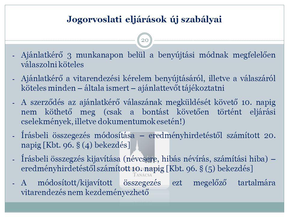 Jogorvoslati eljárások új szabályai 2.