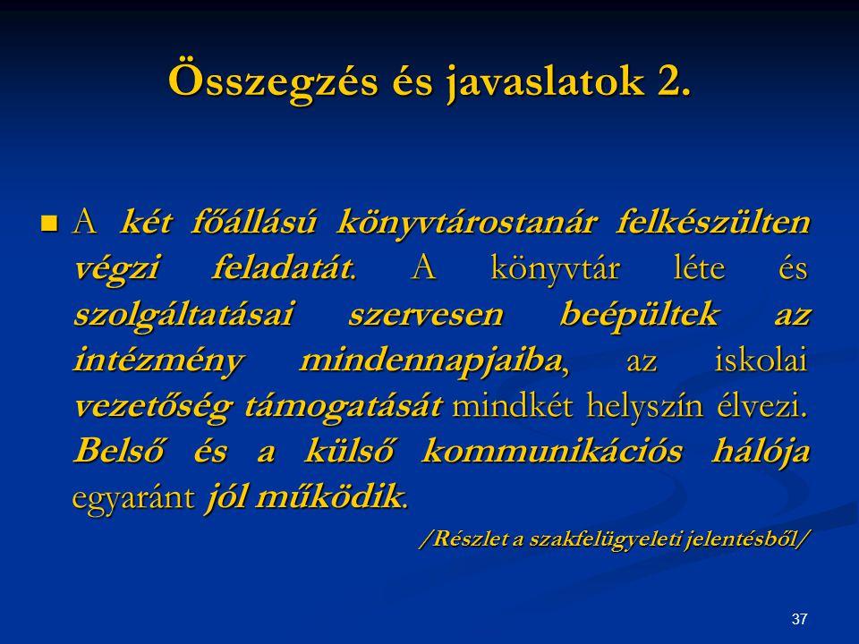 38 Összegzés és javaslatok 3.