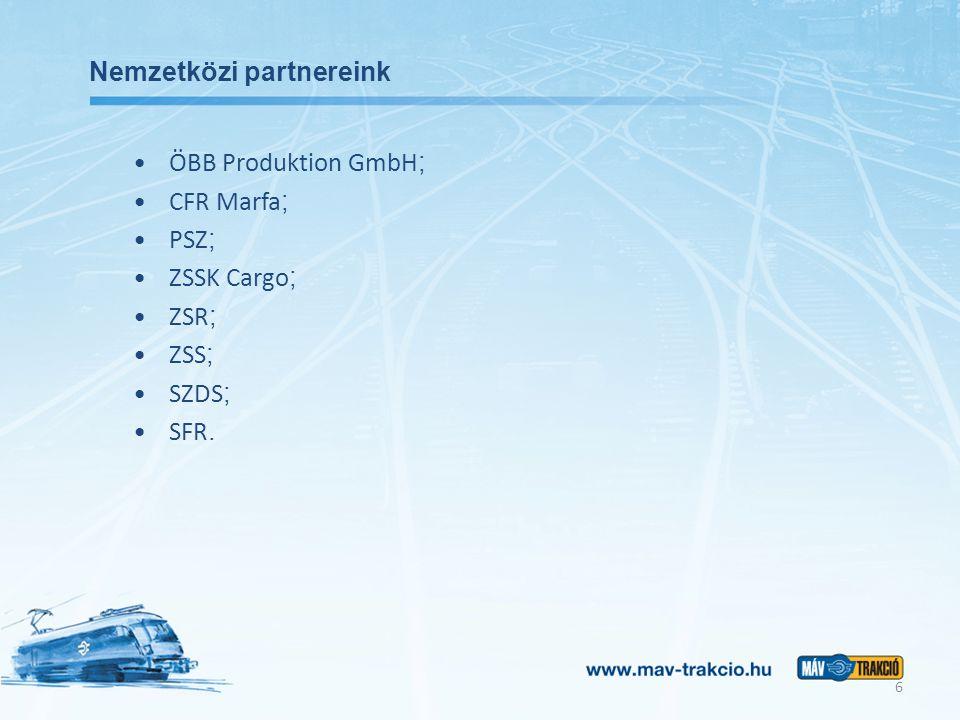 Projektjeink (1) Mozdonybeszerzés Jelenleg folyik a TRAXX mozdonyok beszerzése: 25+ opcionálisan 25 db mozdony Bombardier gyártmányú kétáram-rendszerű villamos mozdony D-A-H üzemengedély 4,6 MW teljesítmény 160 km/h sebesség 7