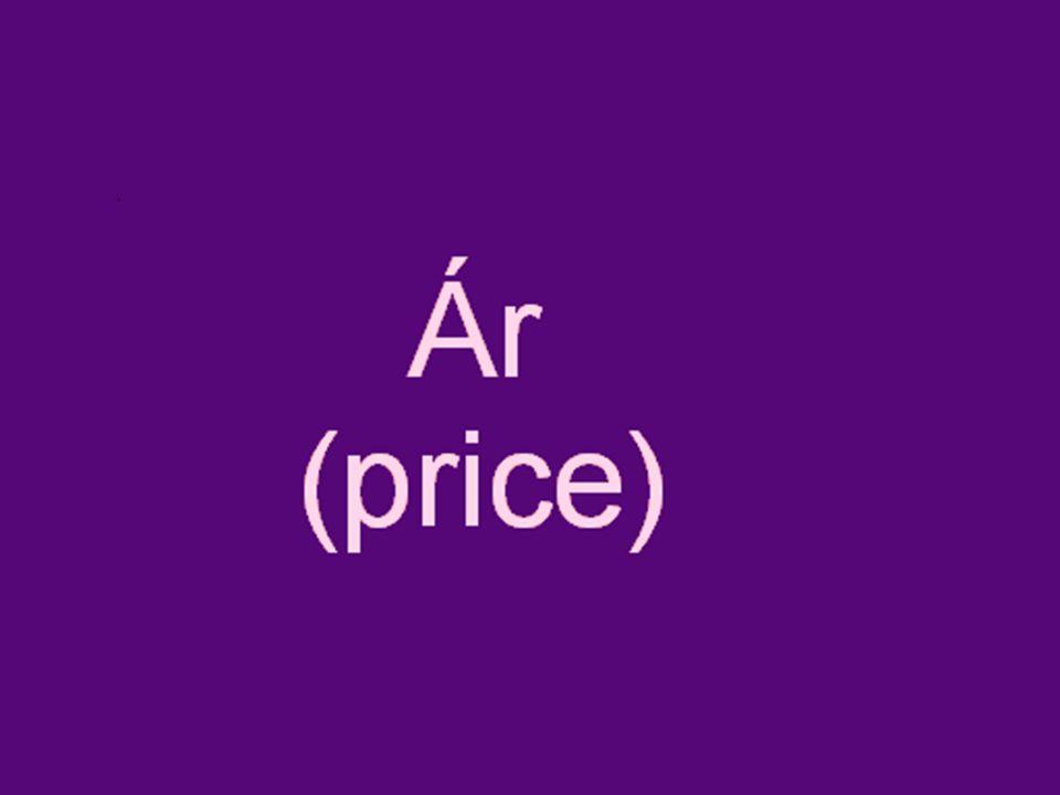 mi az ár.