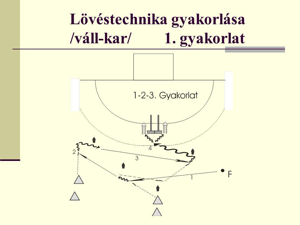 Lövéstechnika gyakorlása /váll-kar/ 2.gyakorlat - hasonló mozgás legyen, mint az előző feladat.