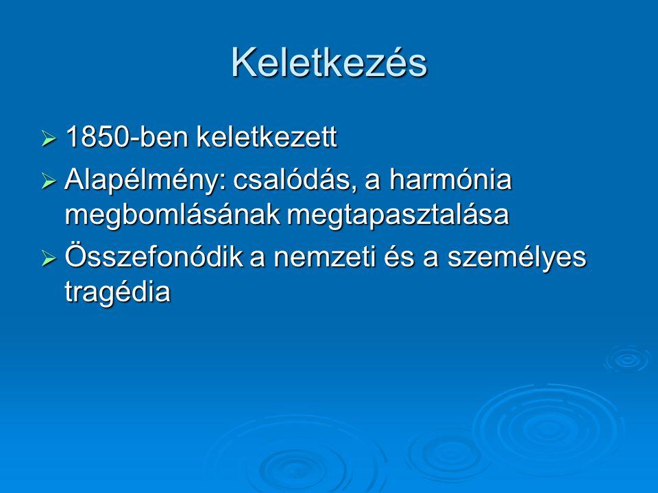 Életrajzi háttér  A szabadságharc bukása  Petőfi elvesztése fájdalmasan érinti  Bujdosás  Majd Geszten nevelő a Tisza-családnál  1851-től a nagykőrösi református gimnáziumban tanárként dolgozik